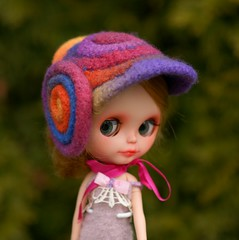 Multicolor felted hat