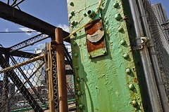Northern Avenue Bridge (4) (AntyDiluvian) Tags: bridge green boston rust downtown waterfront massachusetts rusty financialdistrict corrosion channel swingbridge corroded fortpointchannel northernavenuebridge seaportboulevard seaportdistrict