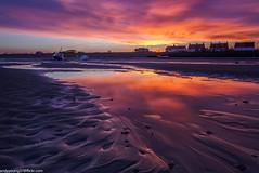 Meols Beach (2 of 7) (andyyoung37) Tags: beech meolsbeech merseyside reflections silhouette sea seaside sky sunrise thewirral