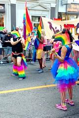 Giddy Up! (Georgie_grrl) Tags: family costumes friends portrait toronto ontario love fashion community bright banner pride flags celebration prideparade ponies yongestreet colourful rainbows unicorn legwarmers tutu lgbtq pridetoronto2016