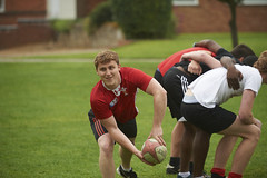 ASC_6390 (The University of Buckingham) Tags: action belofflawn buckingham caucasian game group male marketing2016 outside playing recreation rugby scrum social sport students summer university varied
