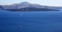 Caldera view from thirasia (klentosharry) Tags: sea santorini cyclades canon blue color canoneos5d aegean greece hellas view landscape horizon caldera