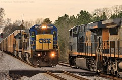 CSX Q237-16 at Graysville, GA (KD Rail Photography) Tags: ge generalelectric ac6000cw cw60ac c408 es40dc c408w trains railroads transportation gevo georgia smalltown smalltownusa csx howtomorrowmoves qualityinmotion sunset winterweather winterseason winter