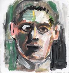 selbst II   030704 (JENS01) Tags: gemlde acryl leinwand selbstportrait sketches berlin friedrichshain art kunst skizze painting dessin
