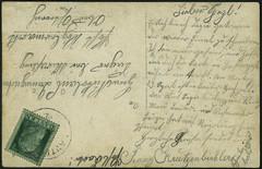 Archiv H194 Karte Burschenverein Lauter (back), 1912 (Hans-Michael Tappen) Tags: archivhansmichaeltappen postkarte briefmarke stamps poststempel text handschrift 1912