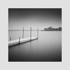 * The White Jetty * (^soulfly) Tags: longexposure daytime singapore lowerseletarreservoir reservoir waterreserve canon40d ef1020mm hoyafilter ndx400 fromtheoldarchive