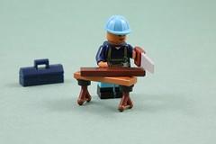 LEGO workbench (AzureBrick) Tags: lego workbench carpentry tools carpenter workman