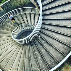 Turning circles this afternoon.... (antwerpenR) Tags: roundandround spiraling staircase spiral instagramapp square squareformat iphoneography clarendon