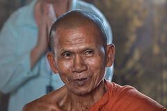 Wisdom (RoosterMan64) Tags: cambodia mekongdelta oudongpagoda portrait monk pagoda people