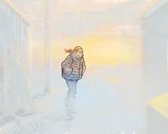 Sunrise (Gustavo Rinaldi) Tags: illustration illustrator drawing photoshop gustavorinaldi cold morning girl woman sunrise