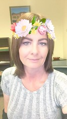 Having fun with Snapchat and being bored at work. (HIRH_MOM) Tags: flowers indoor people selfie snapchat makeup smile love me mylife arizona milf sexy pretty cute beautiful work life eyes fun bored sassy