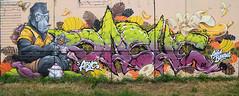 Funky Banana's (HBA_JIJO) Tags: streetart urban graffiti vitry vitrysurseine art france hbajijo wall mur painting letters peinture lettrage lettre lettring dashe monkey writer murale gorilla paris94 spray gorille bombeaerosol thebullshitters tea