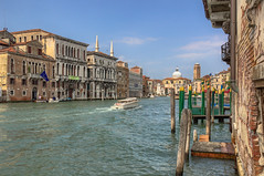 Grand Canal (HDR)1 - Venice 2016 (Reddad Ford) Tags: 2016 italy july venice boat canal hot humid taxi water