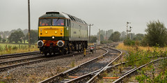 Freightliner class 47/8 no 47830 approaches Thoresby Colliery Signalbox on 19-09-2016 to carry out route learning on the NR Test Track to Tuxford (kevaruka) Tags: 47830 freightliner class47 duff dull drearyday dreary rain rainyday thoresby thoresbycolliery networkrail testtrack britishrail sulzer green yellow september 2016 nottinghamshire flickr frontpage ilobsterit composition locomotive england clouds cloudy cloudyday cloud summer colour colours canon canoneos5dmk3 canon5dmk3 canonef24105f4l 5d3 5diii 5d 5dmk3 people trains train outdoor boobs milf sexy wife
