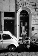Via del Boschetto, Rome (KLAVIeNERI) Tags: italy rome photography vespa fiat theatre x1 cinquecento mingthein leicaforum thorstenovergaard viadelboschetto leicax1 leicaimages ilovemyleica photographersontumblr