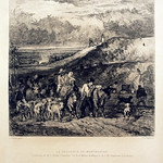 "<b>La Descente de Montmartre</b><br/> Wilhelm Unger after Constant Troyon (Etching) (1883)<a href=""http://farm9.static.flickr.com/8387/8451334162_cdc4756c09_o.jpg"" title=""High res"">∝</a>"