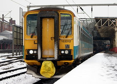 Arriva Trains Wales ATW 153312 (chrisbell50000) Tags: winter favorite snow station wales train diesel rail railway trains class crewe multiple favourite unit arriva 153 sprinter dmu atw 153312 chrisbellphotocom