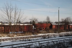 Rake of abandoned wagons outside Regensburg (Marcus Wong from Geelong) Tags: vienna railroad travel train germany austria frankfurt rail railway deutschebahn ice3 europe2012