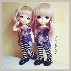 New clothes for my tiny girls, i love it! #latidoll #latiyellow #lati #bjd #pukifee #sweetbynim (Sweet-by-Nim) Tags: yellow square doll squareformat bjd rise lati iphoneography instagramapp uploaded:by=instagram