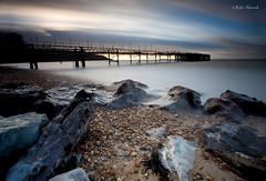 Totland Bay 167 sec Exposure (Rafe Abrook Photography) Tags: longexposure sea beach pier rocks waves shore isleofwight solent iow totland totlandbay 10stop totlandpier bigstopper