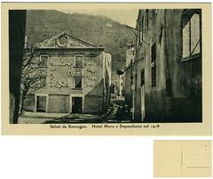 Saluti da Roncegno. Hotel Moro e Dependance nel 1918 (Ecomuseo Valsugana | Croxarie) Tags: hotel cartolina 1918 roncegno sittoni roncegnoterme croxarie hotelmoro giuseppesittoni