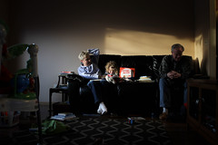365 Day 45 (Annie Otzen Photography) Tags: family reading shadows livingroom grandparents 365 project365 happyvalentinesday gammyandbabaarehere