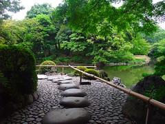 Koishikawa Krakuen Garden (hid-aka) Tags: lake green water japan stone garden landscape pond