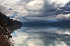 Clouds Over Lillooet Lake (gordeau) Tags: lake reflection clouds landscape gordon ashby lillooetlake flickrchallengegroup flickrchallengewinner thechallengefactory thepinnaclehof gordeau tphofweek193