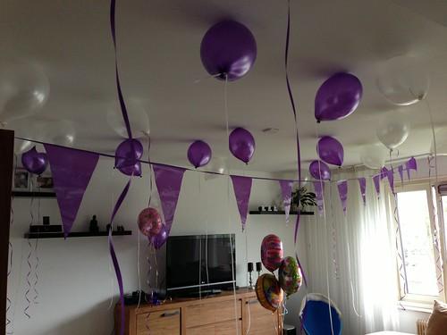 Heliumballonnen Paars, Wit