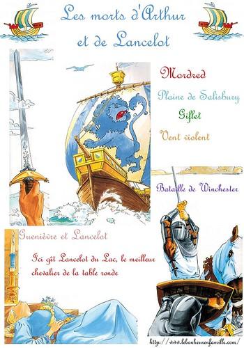 les morts d'Arthur et de Lancelot