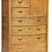 122. Birds Eye Maple Bonnet Chest