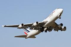 F-GIUA B747-428F/ER/SCD Air France Cargo (kw2p) Tags: fgiua boeing b747 b747428 b747428f 747428 747428f b747428ferscd airfrancecargo airfrance cargo egpk prestwickairport prestwick aviation aeroplane aircraft takeoff 747400