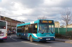 V35ENC Arriva North West DAF SB220 2561 (Sharksmith) Tags: bus bolton 35 arriva bluebus 2561 citibus arrivanorthwest dafsb220 blackhorsestreet route537 ikaruscitibus v35enc