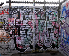 Boobs (delete08) Tags: street urban streetart london graffiti delete trackside