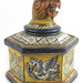 298. Unusual Italian Faience Figural Ink Well