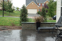 After - Seat wall and Patio (The Sharper Cut Landscapes) Tags: landscaping steps maryland patio laurel privacy paver smallspace plantings landscapedesign seatwall uppermarlboro hardscape ephenry entertainmentarea landscapecompany devonstone thesharpercut