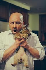 Best Friend (Nick Harris1) Tags: dog man friend cuddle hold