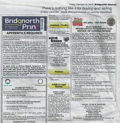 Bridgnorth Journal 15th February 2013 - Pre-submission consultation (Much Wenlock Neighbourhood Plan) Tags: shropshire muchwenlock muchwenlockneighbourhoodplan mwnp