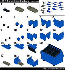 LEGO Dumpster Instructions (bruceywan) Tags: trash dumpster lego bin instructions minifig photostream moc brucelowellcom