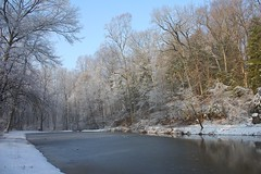 "Snow at the pond • <a style=""font-size:0.8em;"" href=""http://www.flickr.com/photos/92887964@N02/8516217724/"" target=""_blank"">View on Flickr</a>"