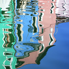 Reflections In Burano II (violinconcertono3) Tags: venice houses reflection canal vivid burano davidhenderson londonphotographer 19sixty3