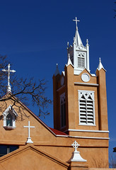 San Felipe de Neri Church (NM Flower Girl) Tags: old newmexico church town catholic albuquerque sanfelipedenerichurch