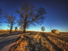 Along Hayfield Road, 2013.03.09 (Aaron Glenn Campbell) Tags: trees winter sunlight barn rural landscape march shadows pennsylvania vibrant country vivid saturday sigma textures lehman shadowplay pastoral 9th hdr highdynamicrange countryroad bucolic nepa hayfieldroad 3xp luzernecounty backmountain photomatixpro tonemapping 2013 hayfieldfarm 1020mmf456exdchsm colorefexpro idllyic niksoftware aaronglenncampbell