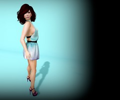 Blue Mood, Purple Shoes (Lucie Bluebird-Lexington) Tags: pink truth adorkable freshfx pinkoutfitters gosboutique skinfair2013