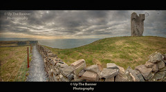 Cliffs of moher, county clare, ireland. view from hags head old castle fort tower. famous irish tourist attraction in the west of irlanda. (upthebanner) Tags: ocean county trip travel blue ireland sunset sea vacation sky panorama irish cliff cloud holiday west green tower castle tourism beach nature water beautiful beauty field weather birds rock stone wall sunrise landscape gold golden coast countryside big high scenery europe walks clare power view place fort outdoor dusk hiking path farm famous extreme doolin scenic wave scene panoramic farmland cliffs atlantic business coastal western huge coastline burren epic bord moher irlanda failte highest liscannor