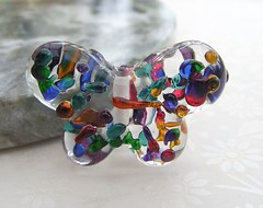 Jewel Butterfly (Glittering Prize - Trudi) Tags: pink blue summer green glass butterfly golden beads spring rainbow purple trudi lampwork jewel frit focal fritty glitteringprize britcraft glitteirngprize britishcrafters
