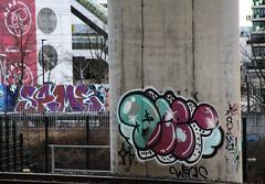 graffiti (wojofoto) Tags: amsterdam graffiti trackside rails spoor wojofoto same ajax arena wolfgangjosten nederland netherland holland