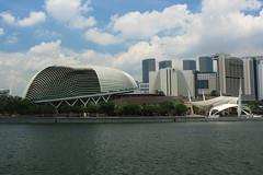 Esplanade - Theatres on the Bay, Singapore (Albert Freeman) Tags: travel architecture singapore asia theatre performingarts esplanade theatres 2012 marinabay
