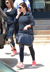 Kim Kardashian - In spandex-03 (Sneakerstudy) Tags: feet socks yoga foot capri shoes pants running sneakers workout fitness spandex leggings