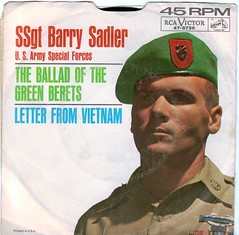 45 RPM SSgt Barry Sadler The Ballad Of The Green Berets b/w Letter From Vietnam (A.Currell) Tags: from bw green army us album vinyl picture 45 victor special vietnam jacket single barry record letter sleeve ballad rca forces sadler rpm 45rpm the berets ssgt of